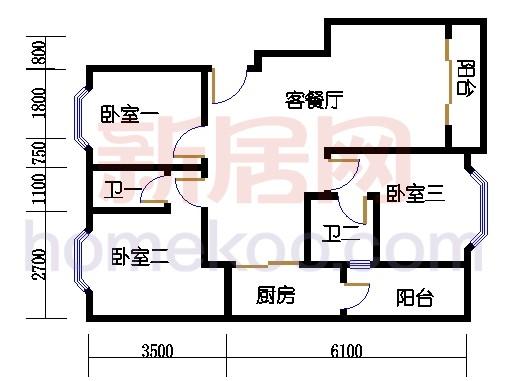 富丽园第六栋三至七层F303