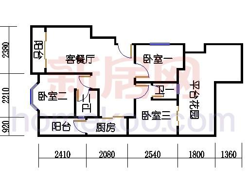 富丽园第五栋二层F215
