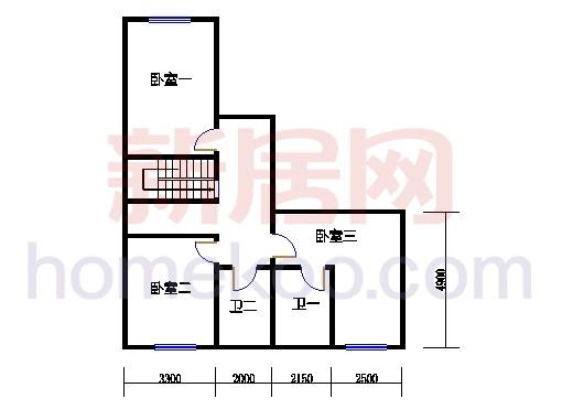 A型别墅3层