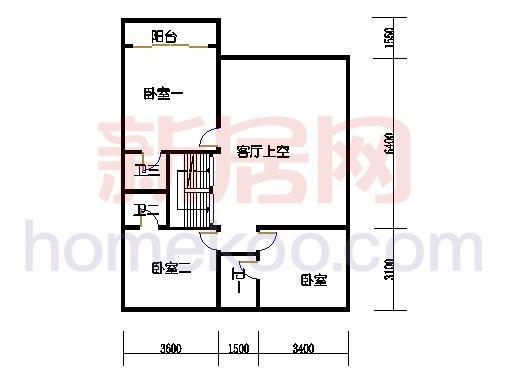 E型别墅3层