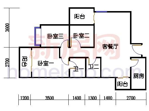 三居室B户型