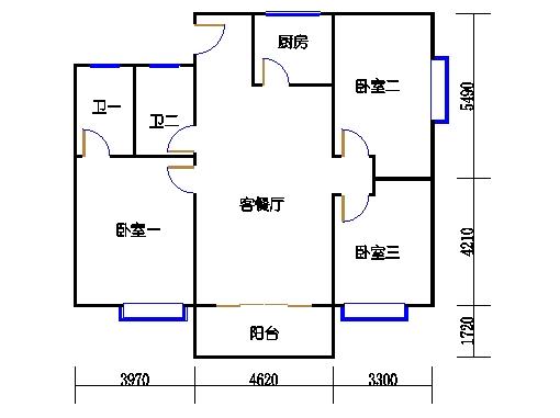 瑞燕阁C栋2-10层05单位