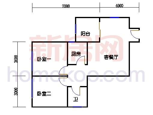 B、G单位三居室