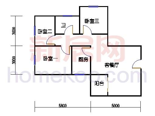 A、H单位二居室