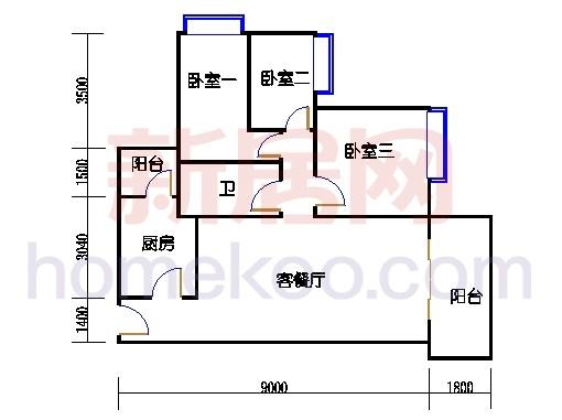 E1栋2-10层01单位