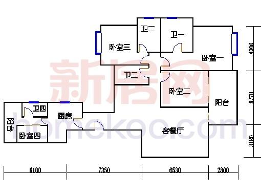 峰彩轩2-12,17-30层01单位