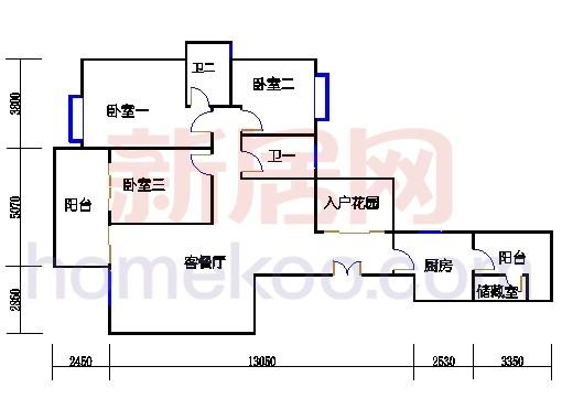 峰彩轩2-43层02单位