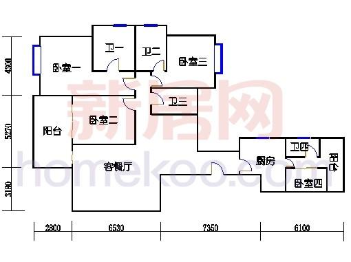 峰雅轩4-41层02单位