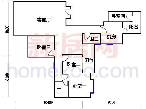 峰颐轩13-15层01单位