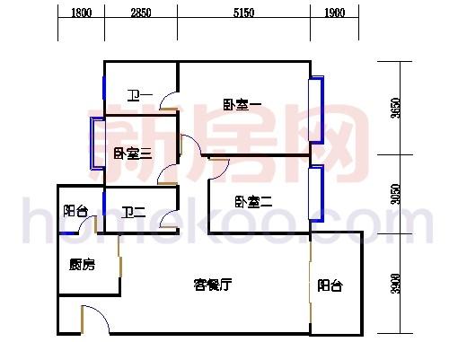 B5-4(4-25层)05单位