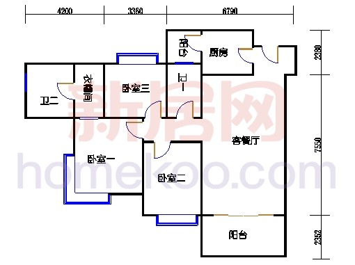 B5-4(26层)03单位