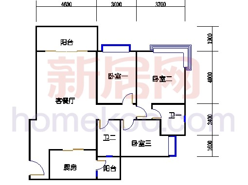 B5-5 (26层)03单位