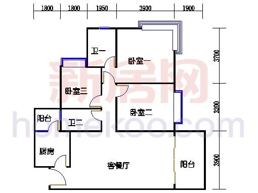 B5-5(4-25层)02单位