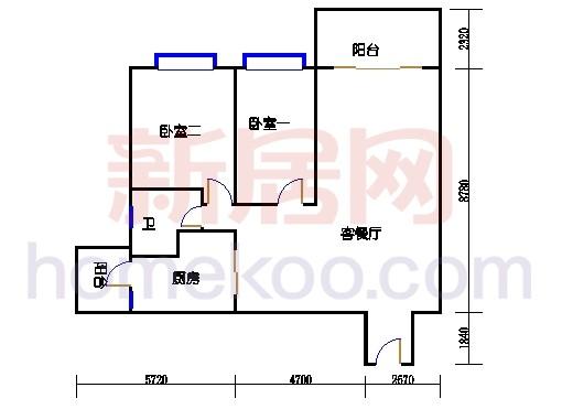 B5-5(4-25层)04单位