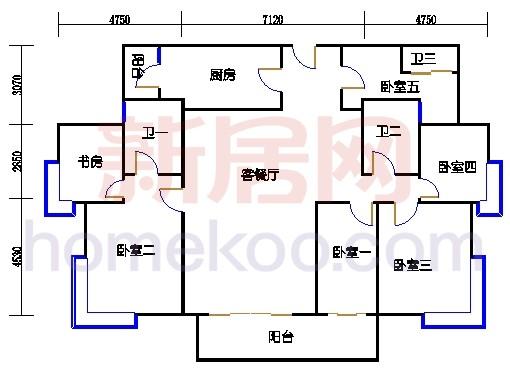 B5-5(26层)06单元