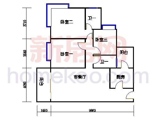 B5-6(4-25层)01单元