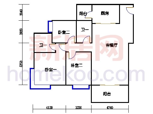 B5-6(4-25层)03单元