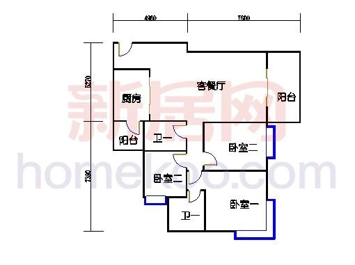 B5-6(26层)03单元
