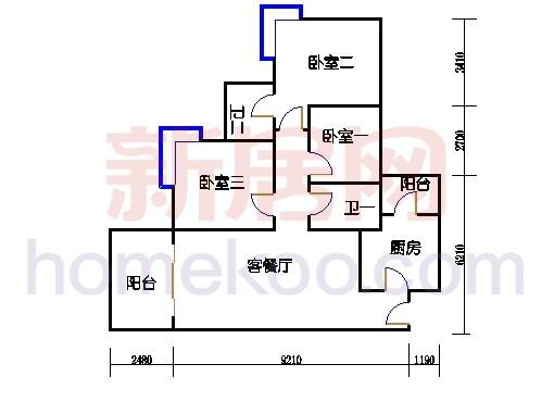 B5-7(4-25层)01单元