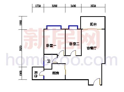 B5-7(4-25层)03单元