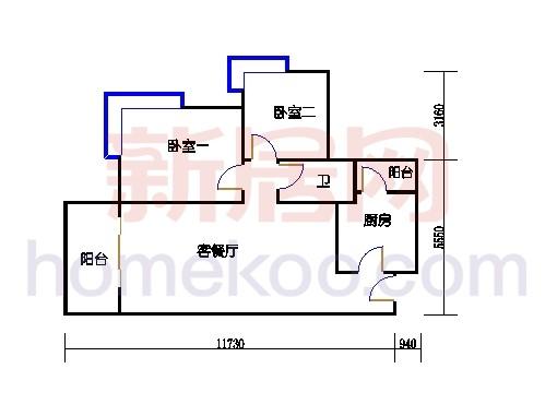B5-7(4-25层)05单元