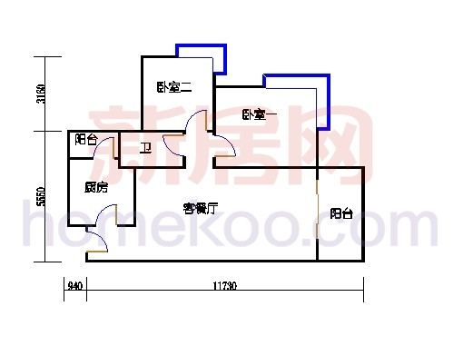 B5-7(4-25层)06单元