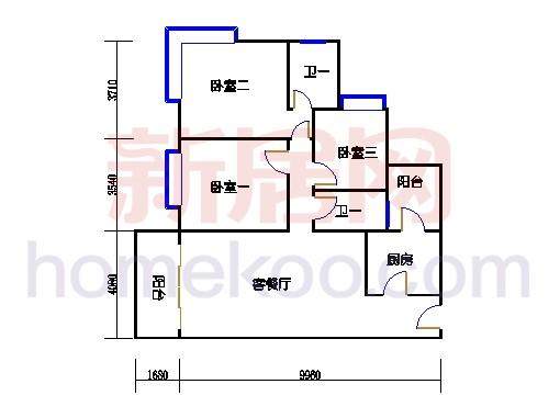 B5-7(4-25层)07单元