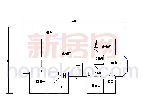 A3型别墅二层