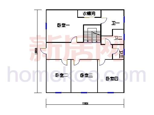 B1型别墅二层