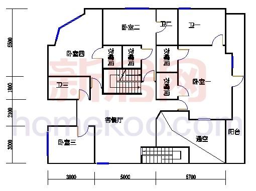 1622型二层环湖半山豪华别墅二层