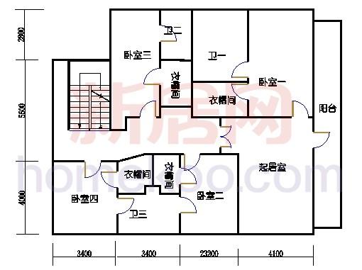 1625型二层环湖半山豪华别墅二层