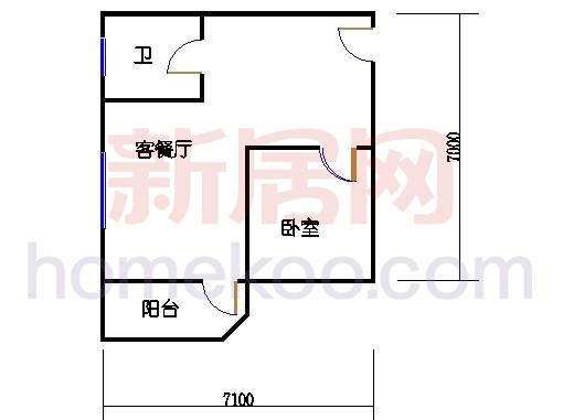 朝阳阁01户型