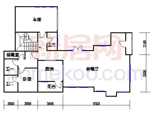 雅墅S-1型地下层