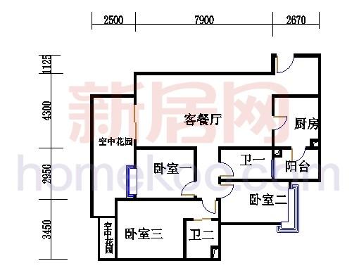 滨江东A栋5-21层01单位