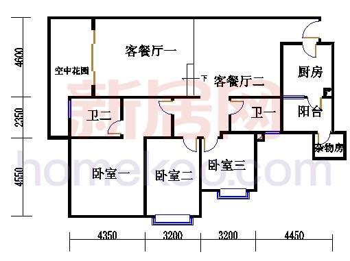 滨江东A栋5-21层02单位