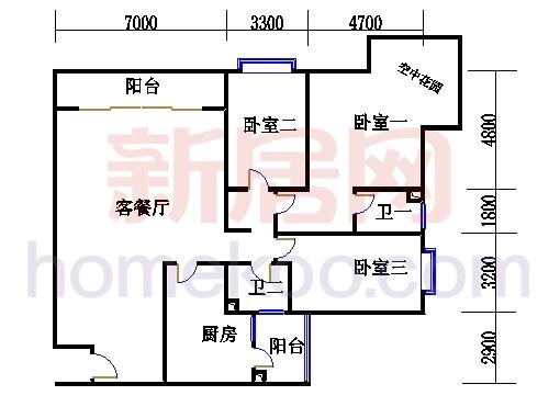滨江东B栋5-21层03单位