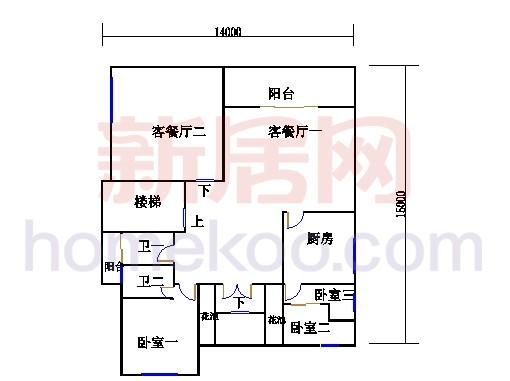 明泉岛A-b2栋首层户型