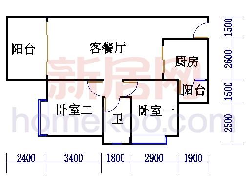 B3栋4层户型03单元