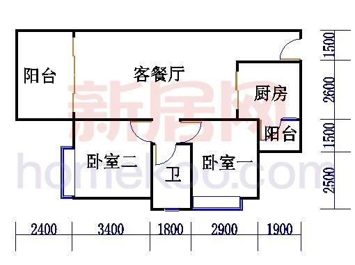 B3栋5-16层户型03单元