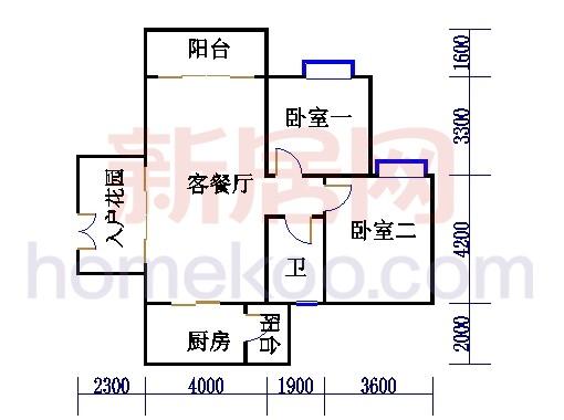 B3栋5-16层户型05单元