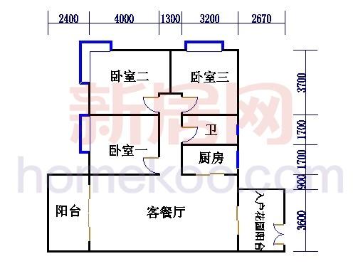 B4栋5-16层户型02单元