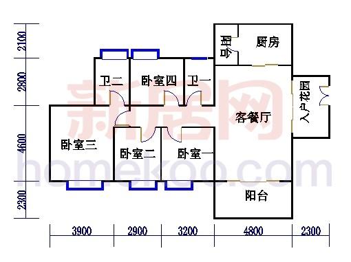 B4栋5-16层户型03单元