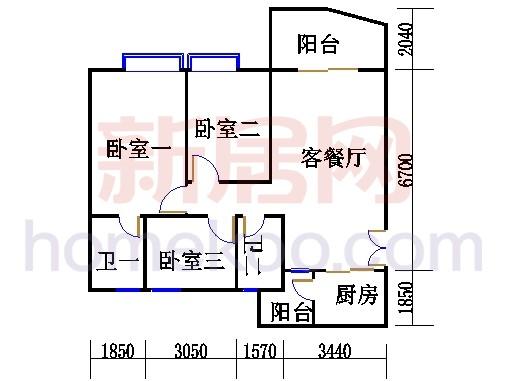 H1栋6-28层04单元