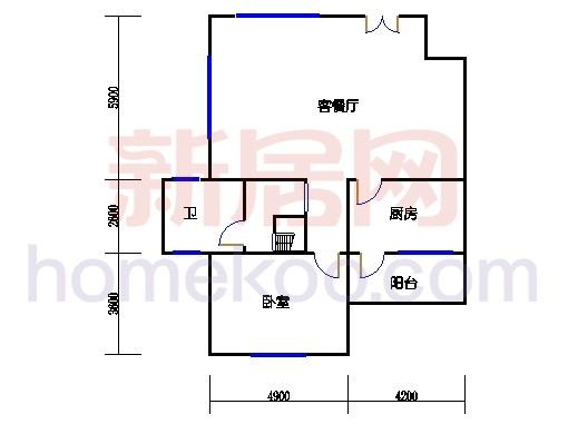 2S型联体别墅一层