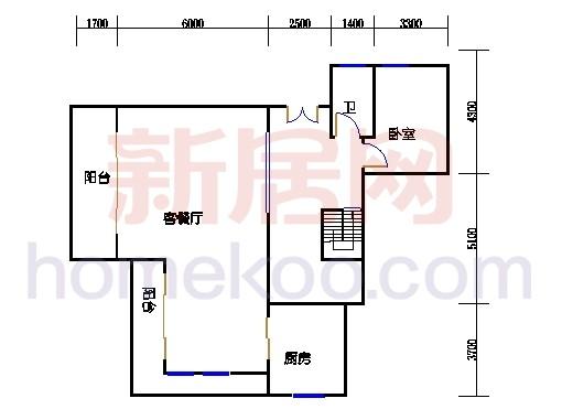 独立别墅C1-1型二层