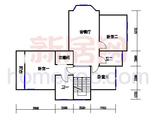 独立别墅C1-2型三层