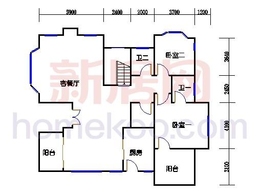 独立别墅C1-4型二层