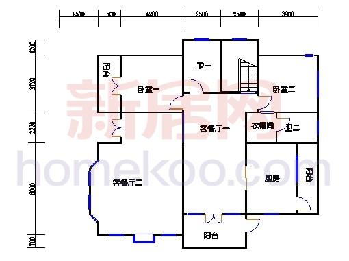 独立别墅C1-5型二层
