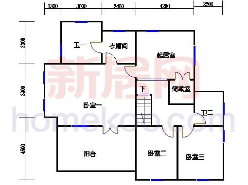 独立别墅C2-3型三层