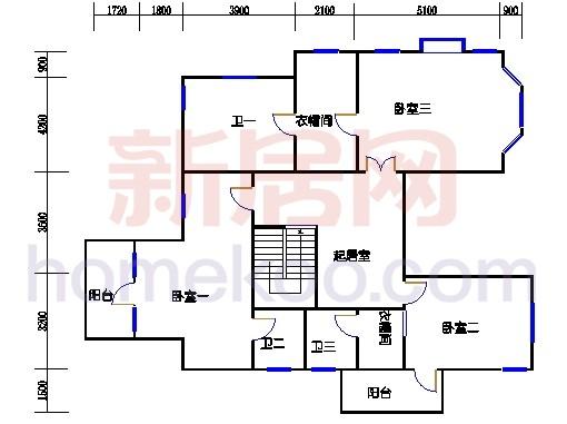 独立别墅C5-2型二层